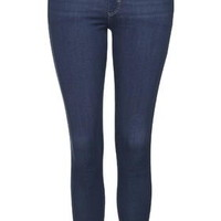 PETITE MOTO Pansy Blue Leigh Jeans - Mid Stone
