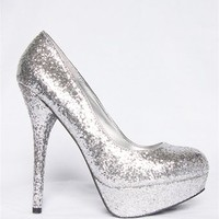 Angie Glitter Pump - Silver from Oppo at Lucky 21 Lucky 21