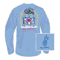 I'll Bring The Tree Long Sleeve Tee Shirt in Sky Blue by MG Palmer