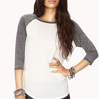 Sporty Mineral Wash Baseball Tee