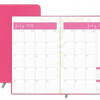 July 2015 - June 2016 Susy Jack Blomma Weekly/Monthly Planner Casebound 5x8