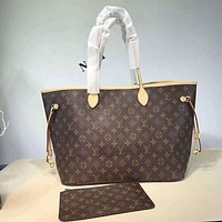 LV Popular Women Shopping Bag Leather Tote Handbag Shoulder Bag Purse Wallet Set Two-Piece I-AGG-CZDL