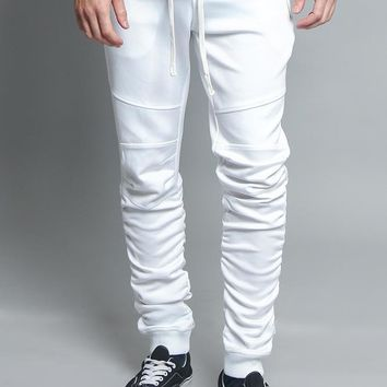 Scrunched Skinny Fit Track Pants