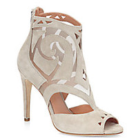 Sigerson Morrison - Macee Cutout Suede Peep-Toe Ankle Boots - Saks Fifth Avenue Mobile