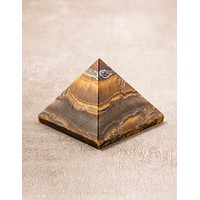 Tiger Eye Pyramid
