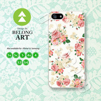 Rose, Floral Pattern, Flower, iPhone 5 case, iPhone 5C Case, iPhone 5S case, Phone Cover, iPhone 4 Case, iPhone 4S Case, iPhone case, 0724