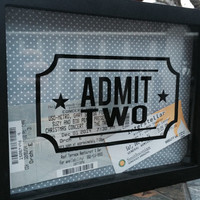 "8x10"" Admit Two Shadow Box for Ticket Stubs"