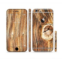The Knobby Raw Wood Sectioned Skin Series for the Apple iPhone6s Plus