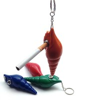 Creativity Pendant Conch Pipe Weed Tobacco Pipe Key Chain Smoking Pipes Gift Narguile Weed Grinder Smoking Set Mouthpiece