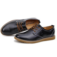 Smooth Toe Leather Oxford Shoes