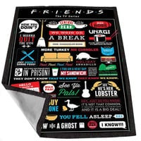 Friends TV Show Collage art 7585b218-e459-4a2f-8a29-6bb0f7f33f67 for Kids Blanket, Fleece Blanket Cute and Awesome Blanket for your bedding, Blanket fleece *02*