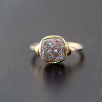 Frozen Fig Cushion Cut Ring