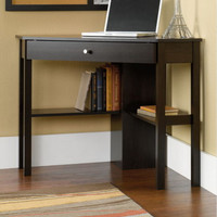 Corner Writing Desk With Drawer Home Office Furniture Cinnamon Cherry Finish New