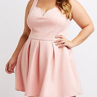 Plus Size Heart Cut-Out Skater Dress | Charlotte Russe