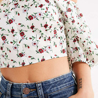 UO Off-The-Shoulder Puff-Sleeve Top | Urban Outfitters