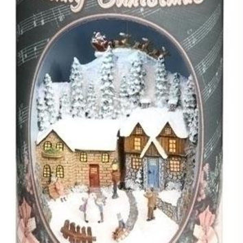 Retro Santa Can - Vintage Can Plays 8 Various Christmas Songs And Lights Up