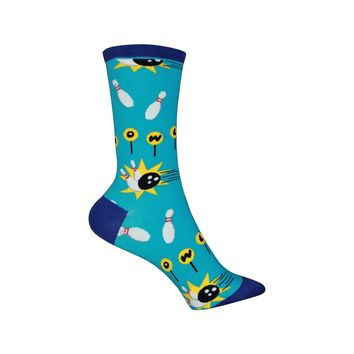 Spare Time Crew Socks in Bright Blue