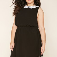 Plus Size Crochet Collar Dress