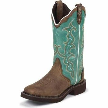 Justin Women's 12 in. Gypsy Cowgirl Western Boot, Barnwood Brown, CA Prop 65 Compliant