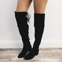 Henry Suede Lace Boots (Black)