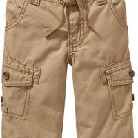 Canvas Roll-Up Pants for Baby