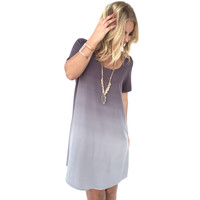 Satellite Ombré Shift Dress in Grey