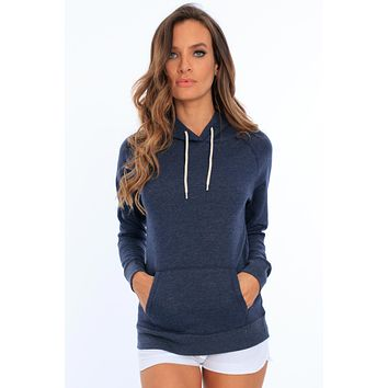 Soft Fleece Hoodie with Front Pockets
