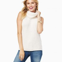 Pieced Knit Sleeveless Cowl Sweater | Charming Charlie