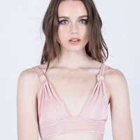 Pleated Bralette Top