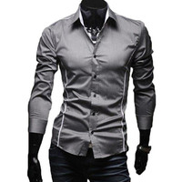 The Calvin Tailored Fit Shirt Silver