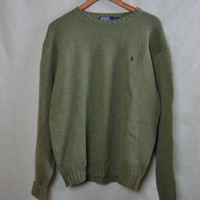 Olive Green Polo Ralph Lauren Knitted Sweater