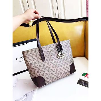 GUCCI fashion hot seller lady's casual print large capacity single shoulder shopping bag