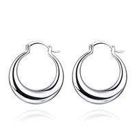 silver earings jewelry Hollow coil clip cuff bijouterie