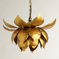 Gold Lotus Hanging Pendant Lamp - World Market