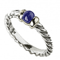 Sterling Silver and 18K Gold Lapis Lazuli Ring