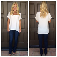 Caralynn Short Sleeve Blouse - IVORY