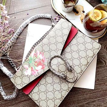 GG new women's high quality chain bag shoulder bag Dionysian bag red