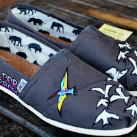 Hope for Tomorrow custom TOMS shoes by BStreetShoes on Etsy
