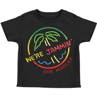 Bob Marley Boys' We're Jammin' Childrens T-shirt Black Rockabilia