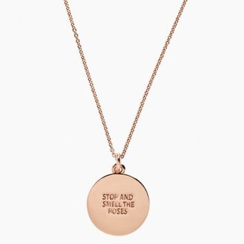 Stop and Smell the Roses Idiom Pendant