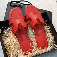 Hermes slippers New style women's outdoor shoes Leisure and vacation flat slippers
