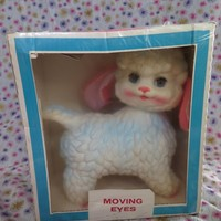 Edward Mobley, BaaBaa the wooly sheep or lamb, in original packaging, 1961 Arrow rubber and plastics company