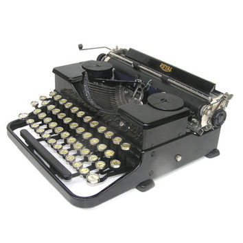 Working typewriter Royal black in very good working condition new blue silk ribbon