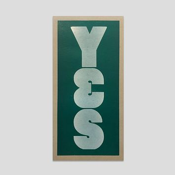 YES Typeface Print