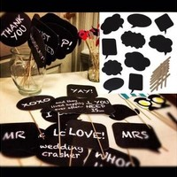 10PCS DIY Write Chalkboard Sign Speech Bubbles Photo Booth Props Wedding Parties [7983227143]