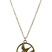 The Hunger Games Mockingjay Necklace | Hot Topic