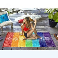 Chakra Yoga Mat Cover and Blanket