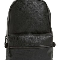 Men's Topman Faux Leather Backpack - Black