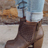 Girl Next Door Bootie - Taupe