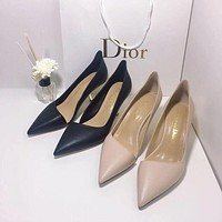DIOR Fashion Trending Leather Women High Heels Shoes